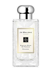 English Pear & Freesia Cologne with Daisy Leaf Lace Design
